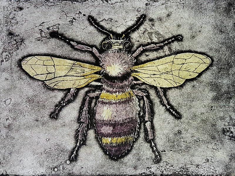 Print of bumble bee