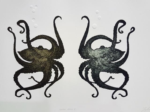 Print of octopus