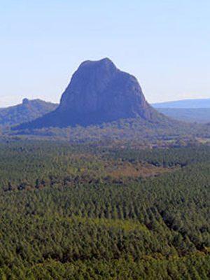 Photograph of mountain panorama