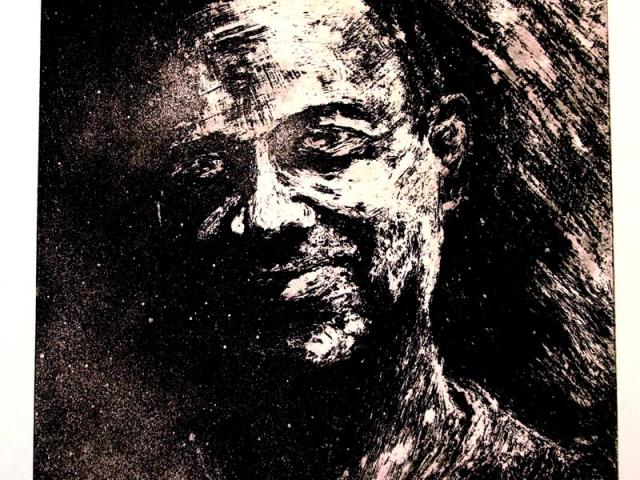 Print of man