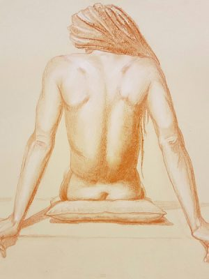 Drawing of female form