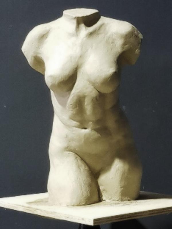 Torso sculpture of female body