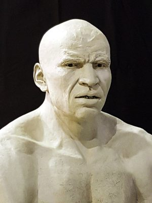 Bust sculpture of boxer Anthony Mundene