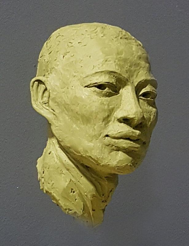 Bust sculpture of face