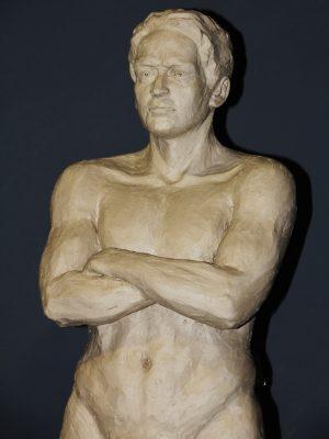 Torso sculpture of male body